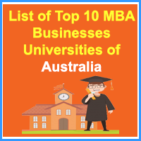 List of Top 10 MBA Businesses Universities of Australia