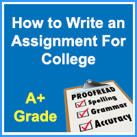 How to Write an Assignment for College