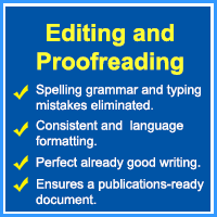 Editing and proofreading assignments checklist by professional academic editors
