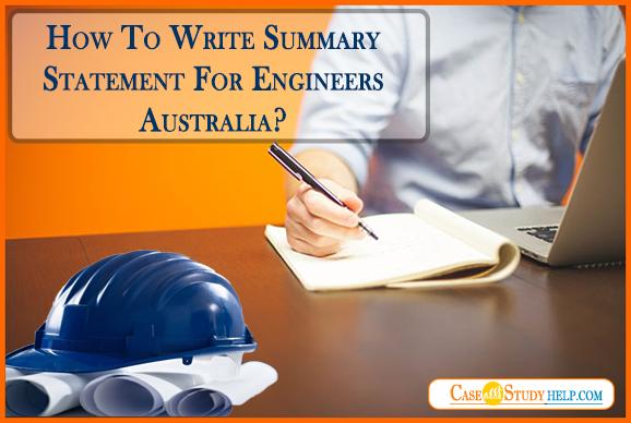 Summary Statement For Engineers Australia