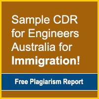 Sample CDR for Engineers Australia for Immigration