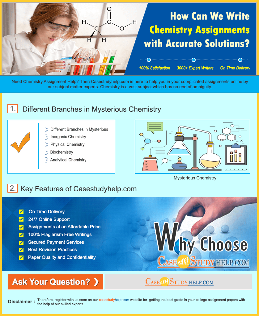 How Can We Write Chemistry Assignments with Accurate Solutions? - Casestudyhelp.com