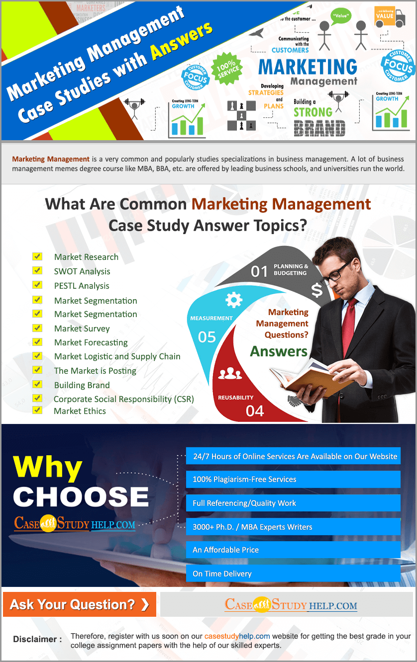 Marketing Management Case Studies with Answers by Casestudyhelp.com