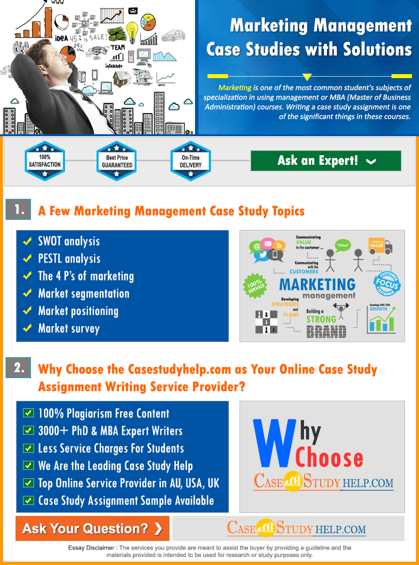 Marketing Management Case Studies Solutions at Casestudyhelp.com