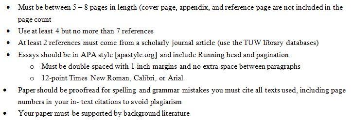 MBA Writing Guideline