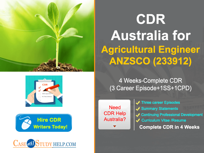 CDR Report for Agricultural Engineer