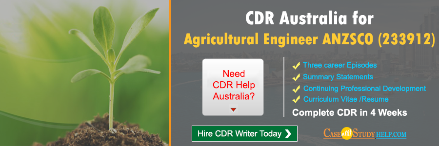 CDR Australia for Agricultural Engineer