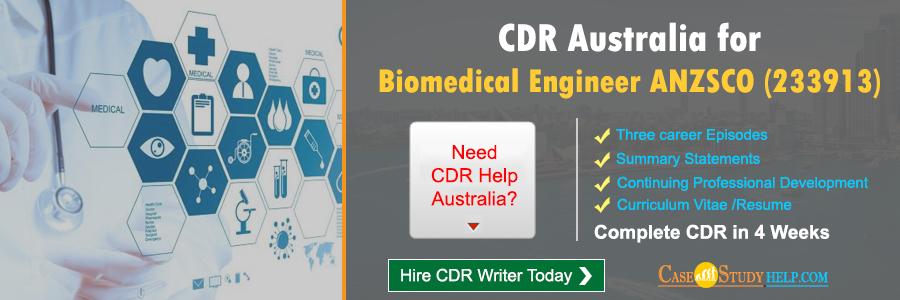 CDR Australia for Biomedical Engineer