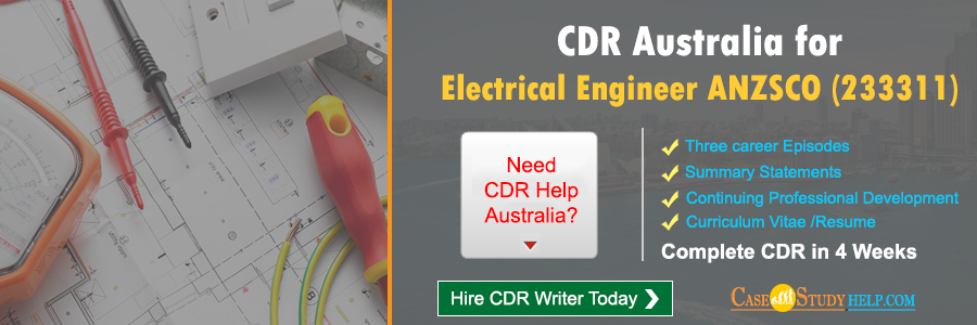 CDR Australia for Electrical Engineer