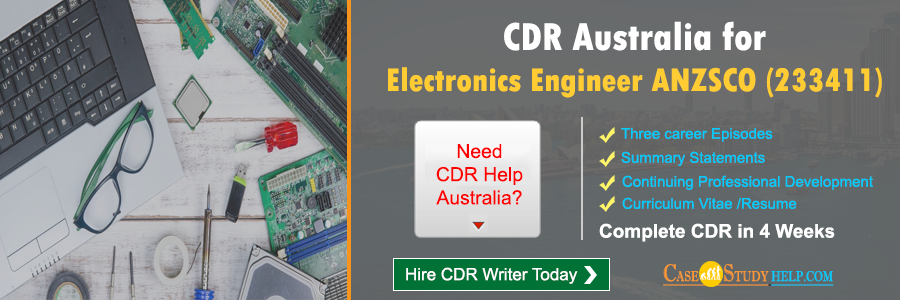 CDR Australia for Electronics engineer