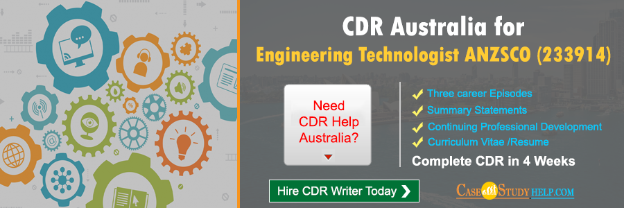 CDR Australia for Engineering Technologist
