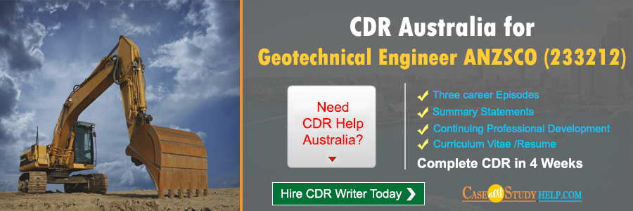 CDR Australia for Geotechnical Engineer