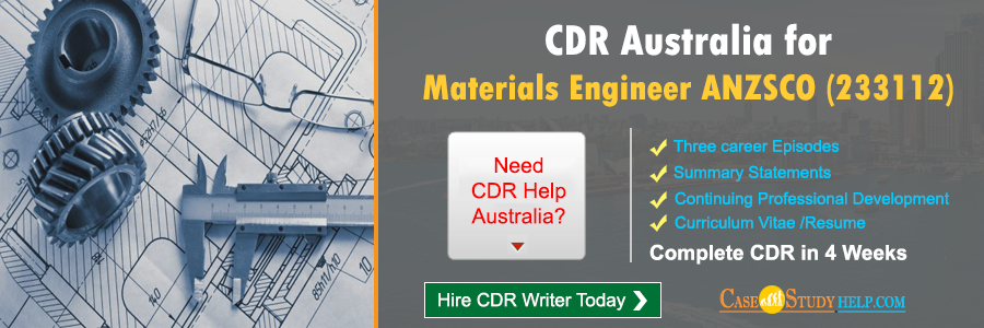 CDR Australia for Materials Engineer