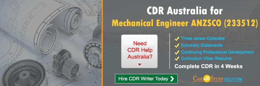 CDR Australia for Mechanical Engineer
