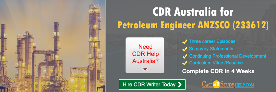 CDR Australia for Petroleum Engineer