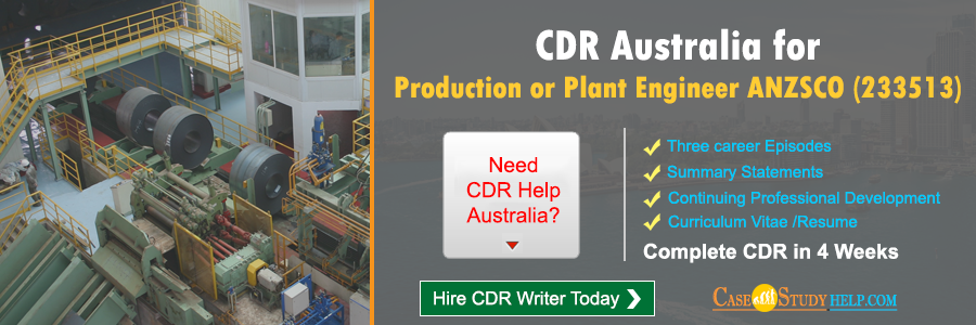 CDR Australia for Production or Plant Engineer
