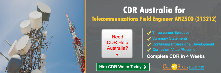 CDR Australia for Telecommunications Field Engineer