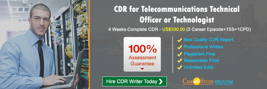 CDR Australia for Telecommunications Technical Officer or Technologist