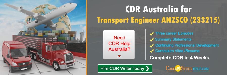 CDR Australia for Transport Engineer