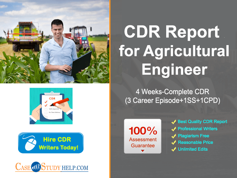 CDR Writer Australia for Agricultural Engineer