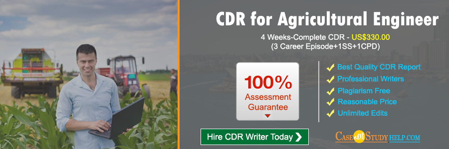 CDR for Agricultural Engineer