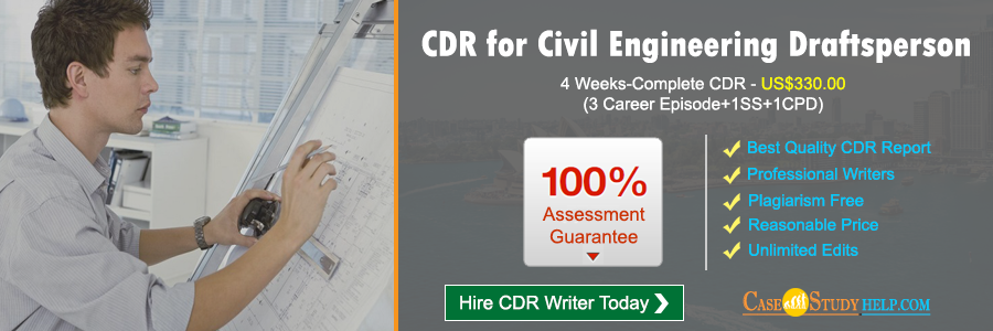 CDR for Civil Engineering Draftsperson