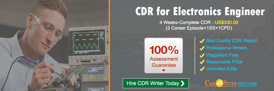 CDR for Electronics Engineer