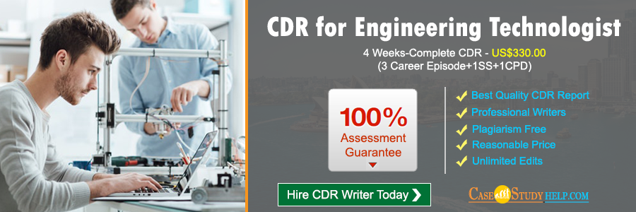 CDR for Engineering Technologist