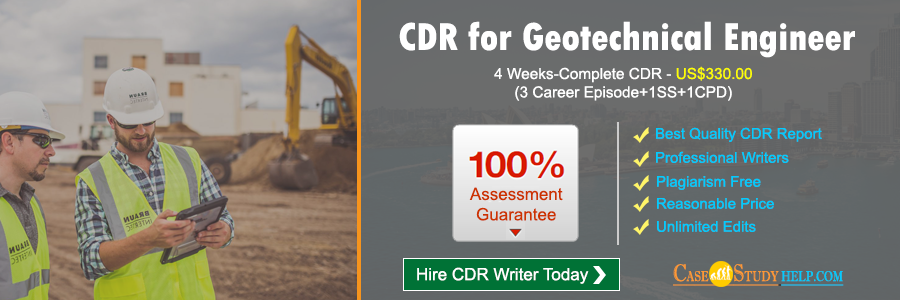 CDR for Geotechnical Engineer