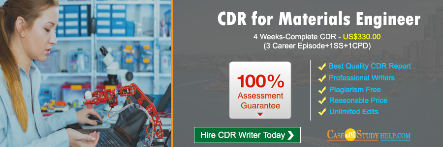 CDR for Materials Engineer