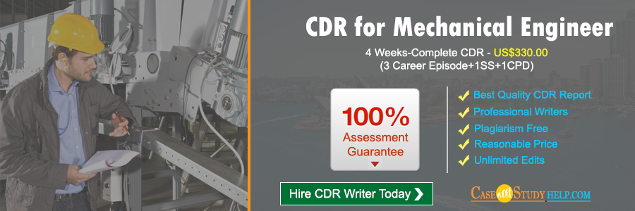 CDR for Mechanical Engineer