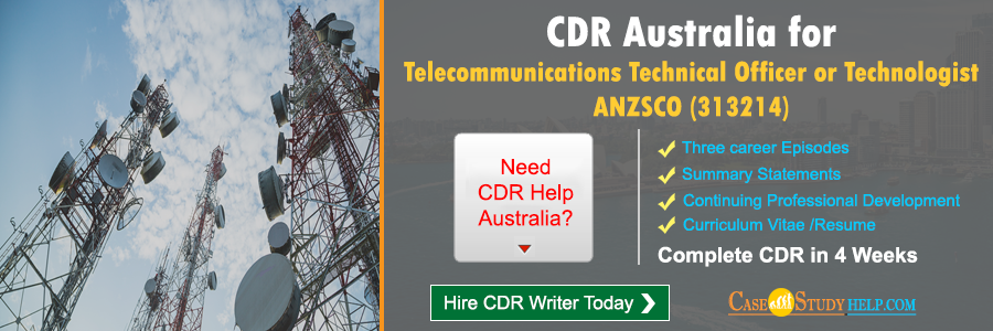 CDR for Telecommunications Technical Officer or Technologist