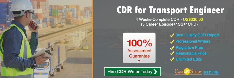 CDR for Transport Engineer