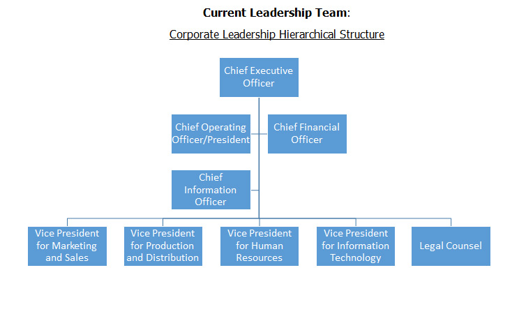 Corporate Leadership Hierarchical Structure