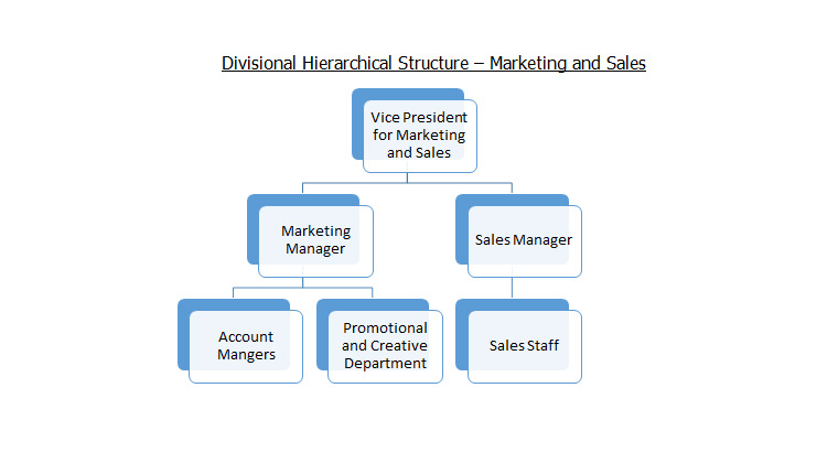 Divisional Hierarchical Structure – Marketing and Sales