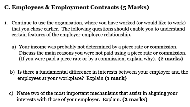 Employees & Employment Contracts