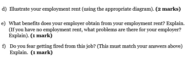 Employement Rents