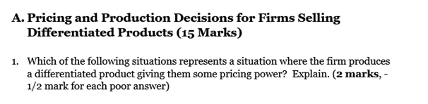 Pricing and Production Decisions for Firms