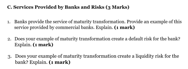 Services Provided by banks and Risks