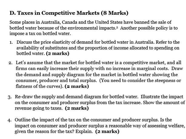 Taxes in Competitive Markets
