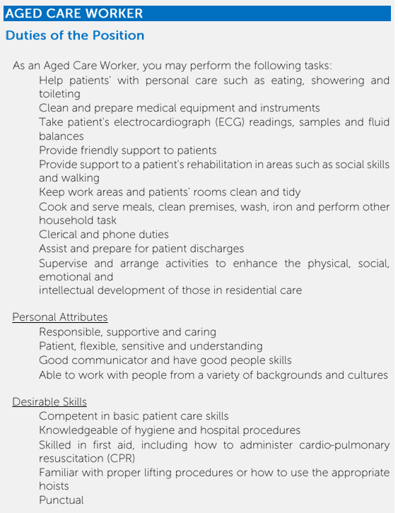 Adge Care Worker