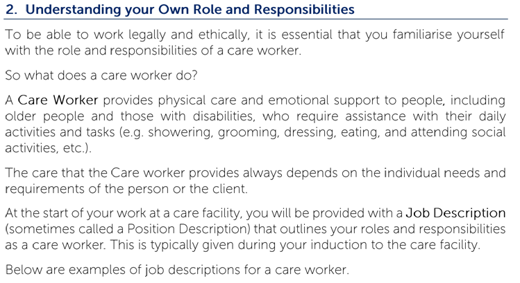 Understanding your Own Role and Responsibilities