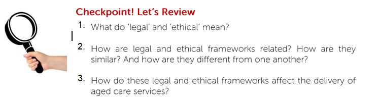 legal and ethical framework b