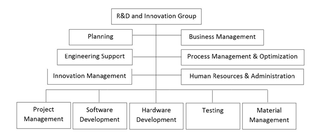 Organizational Structure of Maipu's R&D and Innovation Group in 2012