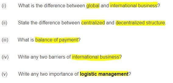 International Business Management Assignment Sample Question